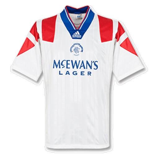 Retro Rangers Away Football Shirt 92 93