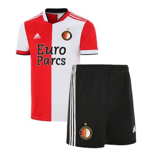 Feyenoord Home Kids Football Kit 21 22