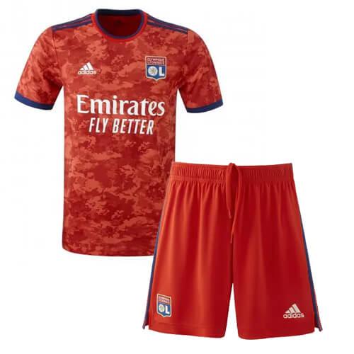 Olympique Lyon Away Kids Football Kit 21 22
