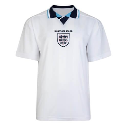 Retro England Home Football Shirt 1996
