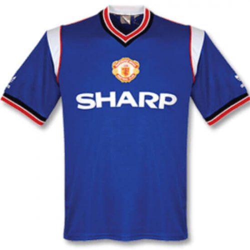 Retro Manchester United Away Football Shirt 85/86