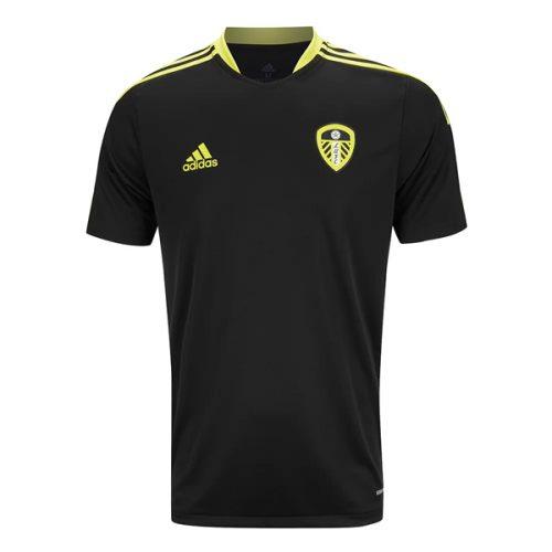 Leeds United Pre Match Training Football Shirt - Black