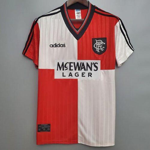 Retro Rangers Away Football Shirt 9596