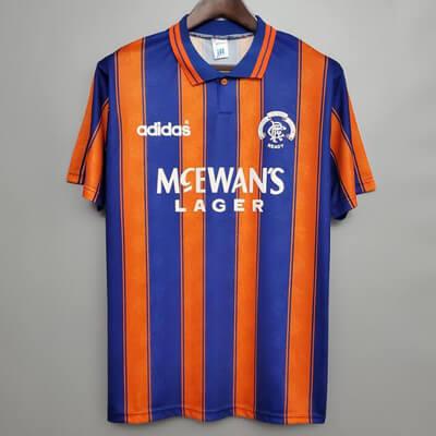 Retro Rangers Away Football Shirt 93 94