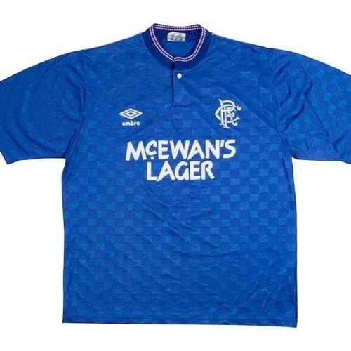 Retro Rangers Home Football Shirt 87