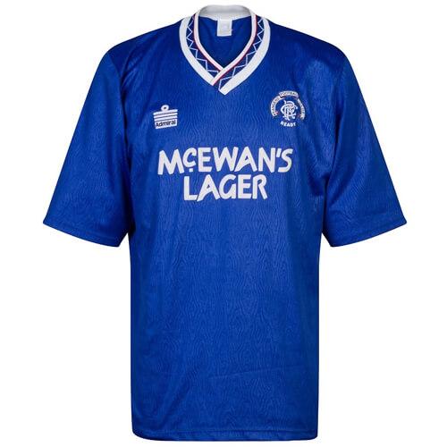 Retro Rangers Home Football Shirt 90 92