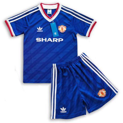 Retro Manchester United 3rd Kids Football Kit 1986