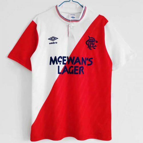 Retro Rangers Away Football Shirt 88 89