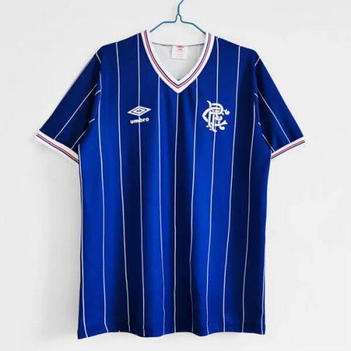 Retro Rangers Home Football Shirt 82 83
