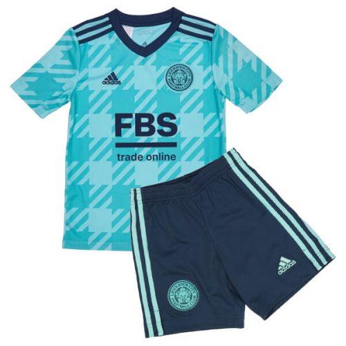 Leicester City Away Kids Football Kit 21 22