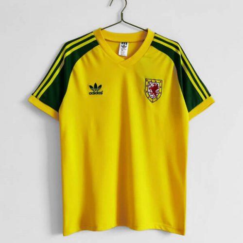 Retro Wales Away Football Shirt 82