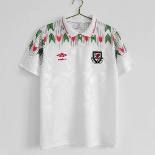 Retro Wales Away Football Shirt 92