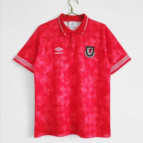 Retro Wales Home Football Shirt 92