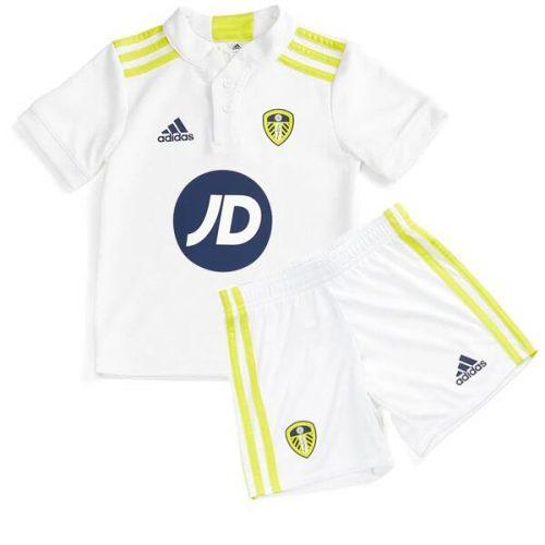 Leeds United Home Kids Football Kit 21 22 - JD