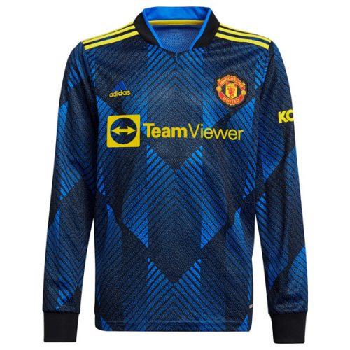 Manchester United Third Long Sleeve Football Shirt 21 22