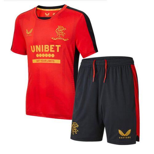Rangers Pre Match Training Kids Football Kit