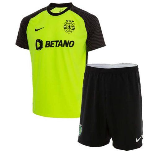 Sporting Lisbon Away Kids Football Kit 21 22